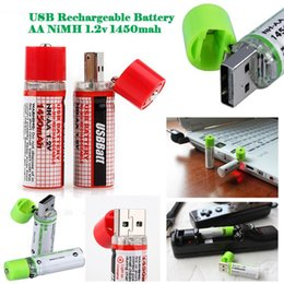 Wholesale USB Rechargeable Battery USBCELL Rechargeable AA NiMH Battery v mah Price Support With Long Life