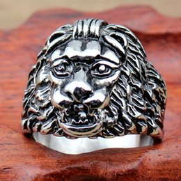 Wholesale Titanium steel New National wind act the role ofing is tasted Leo ring Personality male restoring ancient ways ring RC