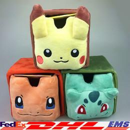 Wholesale 2016 Poke Storage boxes Bins Storage Drawers Poke Pikachu Charizard Squirtle Plush Mini Storage Box Jewelry Box Desktop cm XL P152