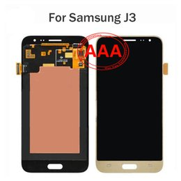 Wholesale Mixed Order AAA high quality Samsung Galaxy J3 retail packaging assembly LCD touch screen digital black and white gold Factory