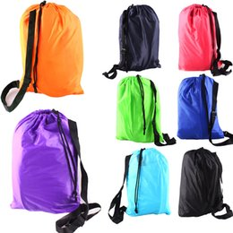 Wholesale Sleeping Bag Fast Inflatable Camping Sofa Sleeping Lazy Chair Bag Nylon Hangout Air Beach Bed chair Couch