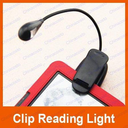 Wholesale LED Book Reading Light one Pole with leds with USB Power Cable Clip led light For Computer Ebook Reader Kindle Nook