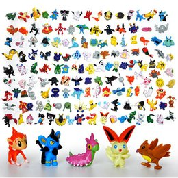 Wholesale 144pcs Poke Figures Toys Monster Action cm Pikachu Charizard Eevee Bulbasaur Mini Model Pokémon Toy Doll Little Figurine For Children