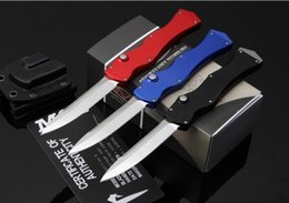 Wholesale High End Microtech HALO IV Prototype Rev II S N ELMAX Blade Material T6 Aluminum Handle Camping Hunting Knife best gift