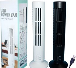 Wholesale Novelty office Desk USB Cooling Fan Air Purifier Mini Air Conditioner portable Tower Shape USB Mini Bladeless Fan H050