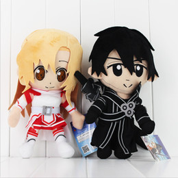 Anime Sword Art Online Asuna & Krito Plush Soft Stuffed Doll Toy for kids gift free shipping EMS