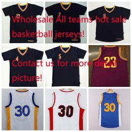 Wholesale Basketball Jerseys Basketball Jerseys Men Basketball Wears Basketball Uniform All Teams Basketball Sportswears