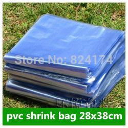 Wholesale 28x38cm PVC heat shrink bags PVC heat blow molding bag clear color heat shrink membrane wrap bags