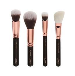 Wholesale ZOEVA Brushes Makeup Essential Brushes Foundation Brush Rose Golden Luxury Bag Complete Eye Pennelli Face Eye Brushes Blending Brushes Kit