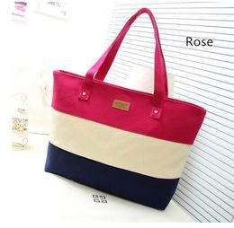 Canvas Shopper Beach Women Messenger Ladies Hand Tote Bag Handbag Famous Brand designer Bolsos Bolsas Sac A Main Femme De Marque