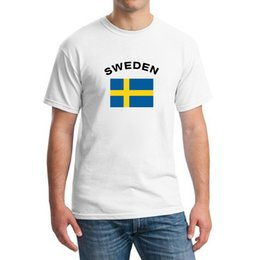 SWEDEN Football Fans Cheer National Flag Men T-Shirts European Cup Fashion Gym Football Sports Ibrahimovic Fans T shirts Men