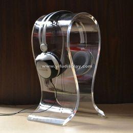 Wholesale Omega Acrylic Headphone Display Stand Headset Display Stand Acrylic Headphone Stand Headphone Display Headphone Holder