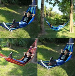 Wholesale Hammock Camping Canvas Water Resistant Sleep Bed Anti rollover Outdoor Portable Camp Furniture Gear Eno Hiking Equipment Tent Kit Sale Cheap