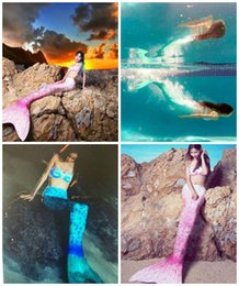 Wholesale Women Sexy Swimmable cosplay Costumes Bikini Set Swimming Swimsuit Mermaid Tail Bikini Swimwears