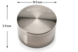 Wholesale Sharp stone mm layers Best and Biggest Tobacco Herb Grinders Metal Zinc Alloy Smoking Grinders Anodized Polished Gunmetal Design
