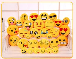Wholesale 2016 New style emoji pendant plush toys pillow QQ expression Crystal super soft plush toys and gifts