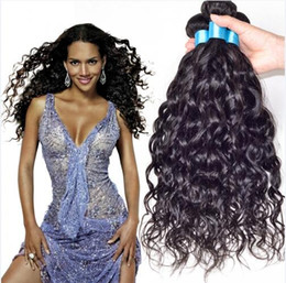 8A Natural Wave Hair Weave Indian Unprocessed Human Hair Extension Natural Color 8-30inch In Stock 5pcs lot DHL Free Shipping