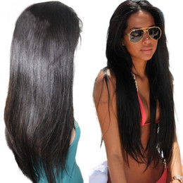 Full Lace Straight Human Hair Wig 10-26 inch In Stock Brazilian Hair Full Lace Wig For Women Natural Straight Lace Wig