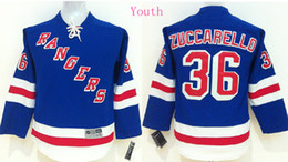 Wholesale New York Rangers Home Kids Mats Zuccarello Blue Ice Hockey Jersey Stitched Name Number