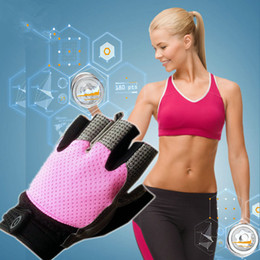 Wholesale-Gym Body Building Training Fitness Gloves Women Gym Fitness Gloves Sports Weight Lifting Exercise For Women Cycling Gloves