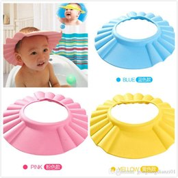 Wholesale 2016 pieces For Baby Kid Toddlers Hair Wash Cap Hat Shampoo Bath Bathing Shower Shield Guard