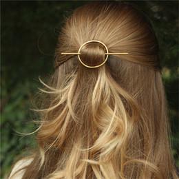 Simple Cercle ronde géométrique Hairpins long Pin Stick Cheveux pour les femmes Accessoires HG346 à partir de pinces à cheveux ronds fabricateur