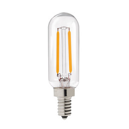 Wholesale Retro LED Antique Filament Bulb W Edison T25 Tubular Style E12 E14 Base Warm White Decorative Pendant Lamp Dimmable