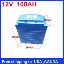 deep cycle rechargeable LiFePo4 12v 100ah battery for solar system electric bike battery