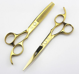 Wholesale Rainbow Professional hairdressing scissors set inches beauty salon cutting thinning hair shears barbershop styling tools Drop Shipping