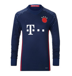 Wholesale Thai quality BR Goalie jerseys long sleeve shirt Home togs Neuer man FC Munichen soccer jerseys mark football shirt suit