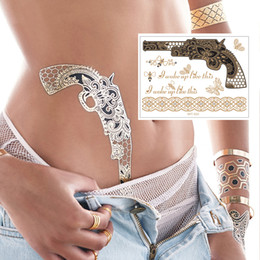 Wholesale Temporary metallic tattoos for adhorning High quality Yincai flash tattoo wholesal with Water transfer printing technique
