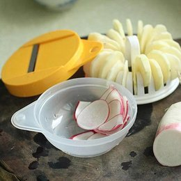 Wholesale 48sets Microwave Oven Potato Chips Maker Machine Potato Chip Cutter Three Piece Complete Set DIY Baking Tool