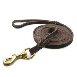 Real Cowhide Dog Leash Leads Leather Braided Strong And Durable 1.2CM Width. 160CM,260CM ,Length