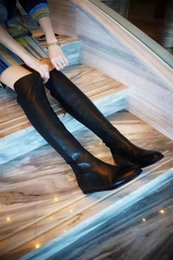 Wholesale High end Thigh High Boots original copy heighten inside cm COMODO heel and slipsole best material wear so comfortable sexy luxury