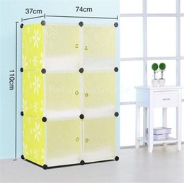 Wholesale 2016 colorful Assemble plastic portable wardrobe closet Modern home storage DIY plastic closet with magic piece price