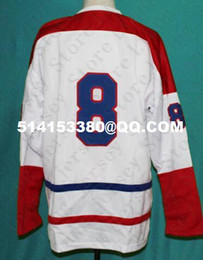 Wholesale Deluxe Edition Houston Apollos Hockey Jersey White or Custom any number name Mens Stitched jerseys