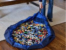 Promotion stockage pour les jouets Livraison gratuite 150cm / 100cm / 45cm Portable Enfants Enfants Infant Tapis de jeu grands sacs de rangement Jouets Organiseur Coffrets Blanket Rug