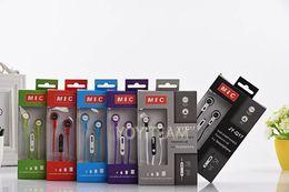 Compra Online Bajo plano-Auriculares universales con el micrófono de los deportes auriculares música fuerte bajo JY-Q17 en el oído para el teléfono móvil Samsung mp3 del teléfono móvil del iphone