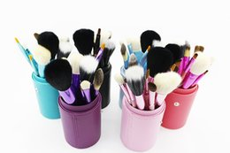 Wholesale Facial cosmetic brush brush set wool brush a barrel mixing tool kits and different sets top quality