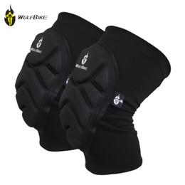 Hot Sale 2Pcs Elastic Knee Pads Wolfbike Breathable Football Basketball Sports Leg Sleeve Kneepad Protector