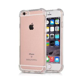 Wholesale iPhone tpu case with air bubble wrap protected silicone mobile cell phone transparent case cover for iphone6 S S plus
