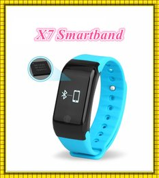 Wholesale 2016 X7 Smart Wristbands Fitness Tracker Smartband Heart Rate Atmospheric Pressure Test Altitude Monitor smart bracelet PK U8 Watch TW64