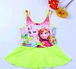 Baby Girls Cartoon Swim Suit Children's Frozen Swimsuit Big Size Elsa&Anna Girl Swimwear 2016 Hot Sale Discount Swimming Suit For Girl