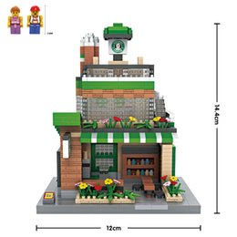 Starbucks LOZ Nanoblock Building Block Toy bricks kit assemble model DIY creative gift minifigure for kid