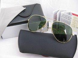 Wholesale New High Quality Brand Designer Aviator Sunglasses Women Men Pilot Sun Glasses Sport Vintage Eyewear With Original Box