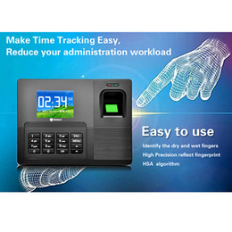 Wholesale Time Recorder USB Download Function Type Fingerprint Biometric Time Attendance Machine F6128A