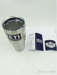 Wholesale 30oz Yeti Cups Cooler Stainless Steel oz YETI Rambler Tumbler Cup Car Vehicle Beer Mugs Double Wall Bilayer