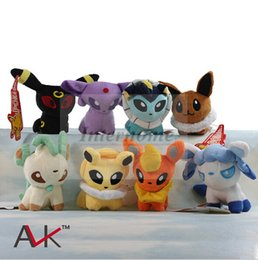 Wholesale Poke Plush Toys Poke Ball Stuffed Dolls Umbreon Eevee Espeon Jolteon Vaporeon Flareon Glaceon Leafeon Animals Soft Stuffed Dolls Toy B495