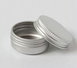 Wholesale 100PCS G silver Aluminum Empty Round Jar for Cream Metal Sample Container