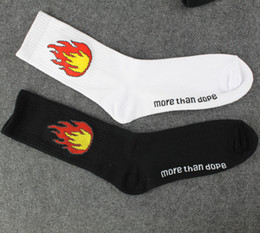 More Than Dope Socks Fashion Unisex Flame Print Socks skateboard socks sports stockings Harajuku Socks Hiphop Socks Fashion stockings